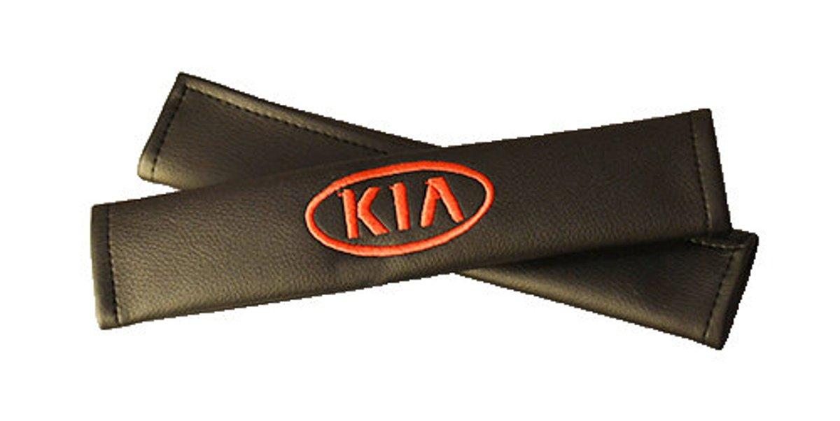 Накладки на ремень безопасности Auto Premium KIA, 2 шт98298130Накладка на ремень безопасности легко закрепляется на ремне и решает ряд назойливых проблем:Ремень больше не натрет плечо, благодаря тому,что накладка сделана из мягкой экокожи и не мешает движению ремня. Накладка на ремень позволит защитить Вашу одежду от следов ремня безопасности. В жаркую погоду в местах соприкосновения с ремнем кожа не будет потеть, так как накладка выполнена из дышащего материала.