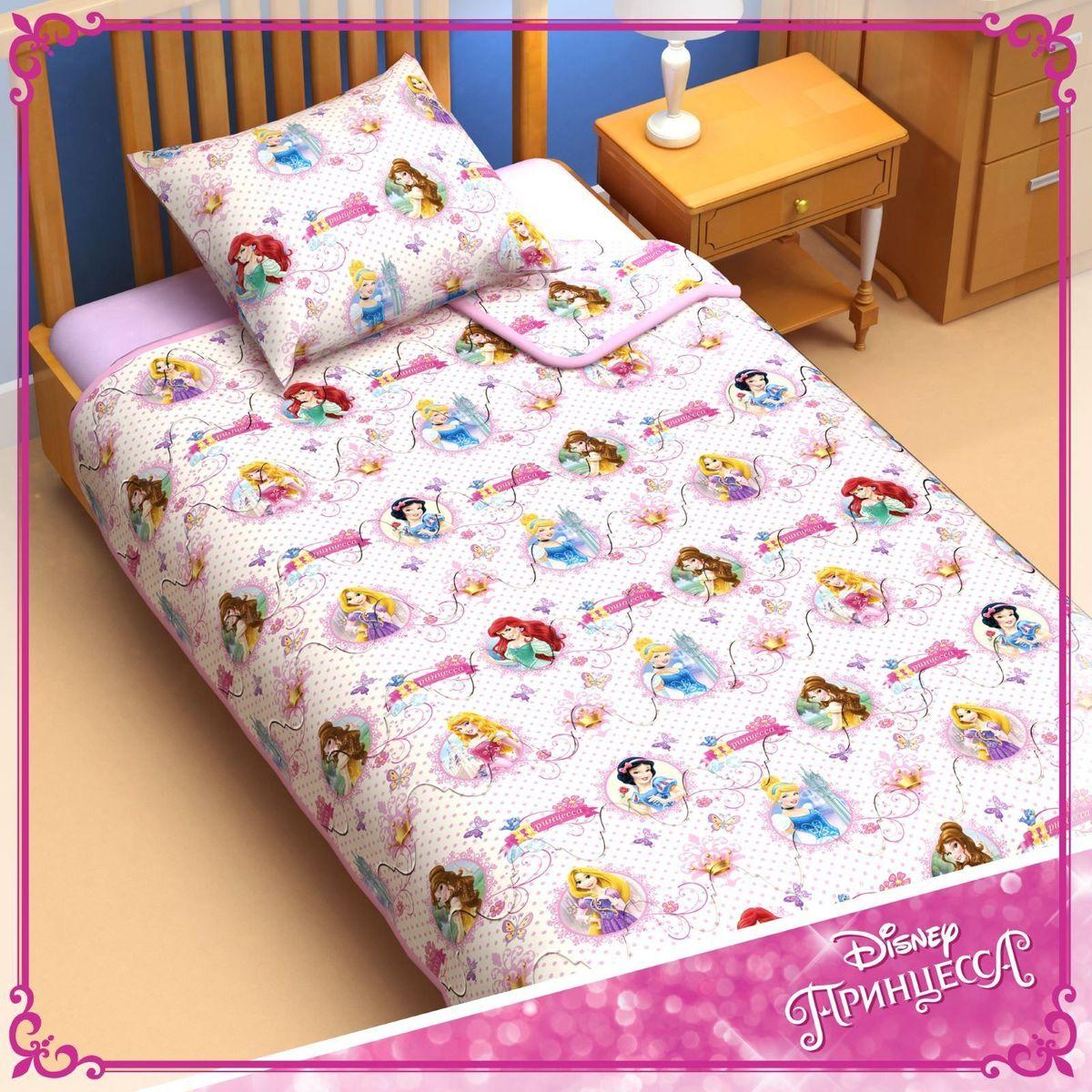 Disney Одеяло 1,5 спальное Принцессы 140 х 205 см 1153168 раскраски эгмонт классические персонажи disney рно5 1 1605 раскрась наклей и отгадай 5 в 1