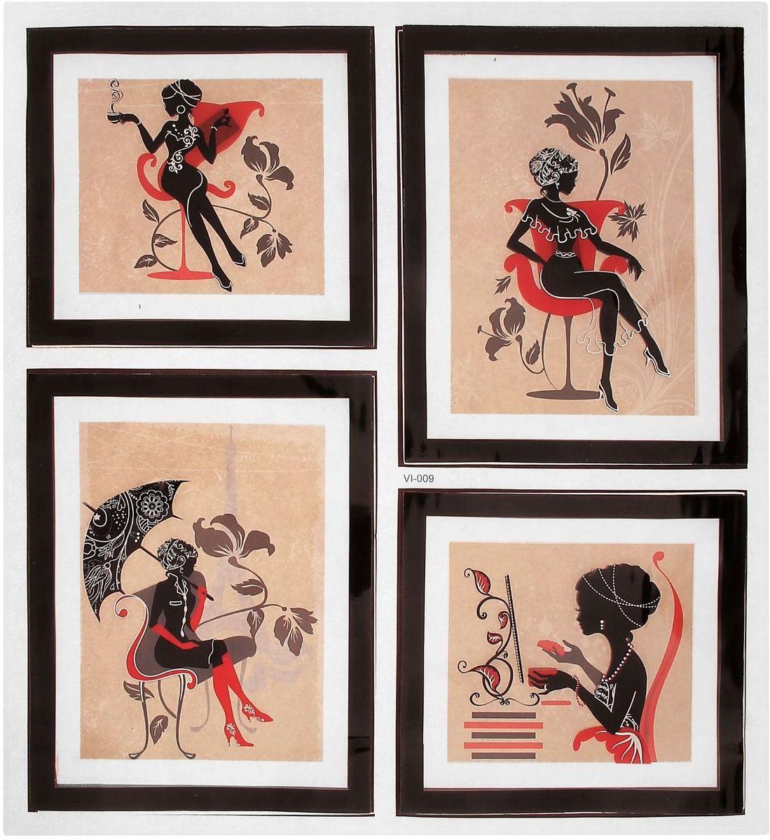 Room Decoration Наклейка интерьерная 3D Девушка в красном -  Предметы интерьера