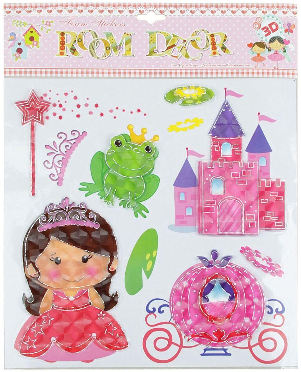 Наклейка пластик 3D Принцессы девочки  38 х 30,5 см