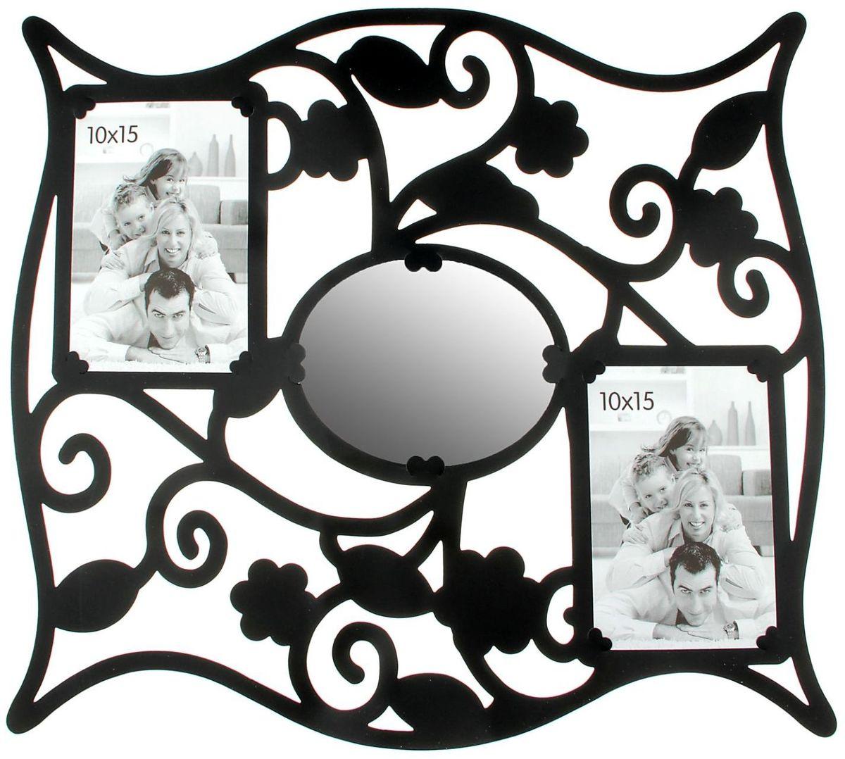 Room Decor Наклейка-фоторамка интерьерная с зеркалом Цветочки