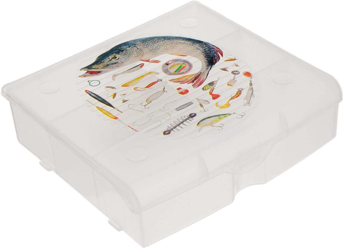 Органайзер для рыболовных принадлежностей Blocker, 5 секций, 14 х 13 х 4 смBR3726ПРМТУдобный пластиковый органайзер для рыболовных принадлежностей Blocker прекрасно подойдет для хранения и транспортировки различных мелочей. Он имеет 5 фиксированных секций. Удобный и надежный замок-защелка обеспечивает надежное закрывание. Такой органайзер поможет держать вещи в порядке. Размер малых секций: 6,5 х 4 см. Размер большой секции: 13 х 4 см. Размер органайзера: 14 х 13 х 4 см.