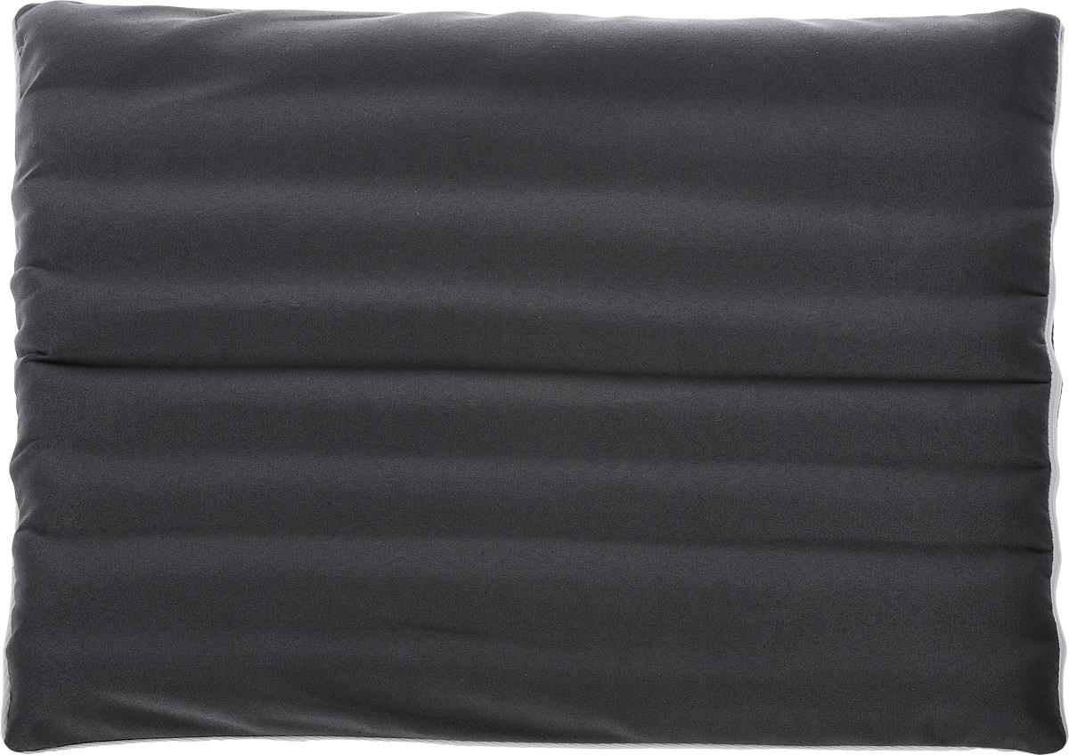 Подушка на сиденье Smart Textile Офис-комфорт, с чехлом, наполнитель: лузга гречихи, 40 х 50 смVT-1520(SR)Подушка на сиденье Smart Textile Офис-комфорт создана для тех, кто весь свой рабочий день вынужден проводить в офисном кресле. Наполнителем служат лепестки лузги гречихи, которые обеспечивают микромассаж кожи и поверхностных мышц, а также обеспечивают удобную посадку и снимают напряжение.Особенности подушки:- Хорошо проветривается.- Предупреждает потение.- Поддерживает комфортную температуру.- Обминается по форме тела.- Улучшает кровообращение.- Исключает затечные явления.- Предупреждает развитие заболеваний, связанных с сидячим образом жизни. Конструкция подушки, составленная из ряда валиков, обеспечивает еще больший массажный эффект, а плотная износостойкая ткань хорошо удерживает наполнитель, сохраняет форму подушки и продлевает срок службы изделия.Подушка также будет полезна и дома - при работе за компьютером, школьникам - при выполнении домашних работ, да и в любимом кресле перед телевизором.В комплект прилагается сменный чехол, выполненный из смесовой ткани, за счет чего уход за подушкой становится удобнее и проще.