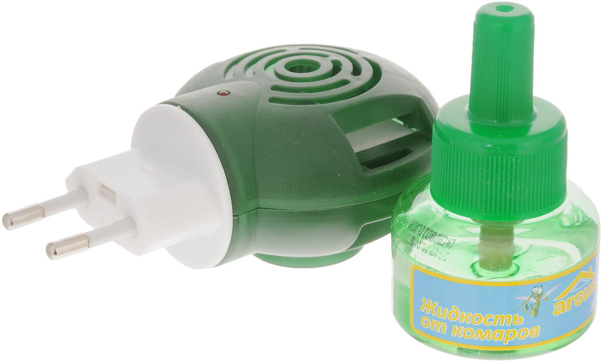 Фумигатор Argus Baby, с жидкостью от комаровЗНАС-1000Фумигатор Argus Baby используется для уничтожения комаров в помещениях. Предназначен для детей от трех лет.Фумигатор имеет поворотную вилку, позволяющую использовать даже в неудобно расположенных розетках.Полное уничтожение комаров достигается менее чем за 1 час. Жидкость от комаров защищает даже при открытых окнах. Средство не имеет запаха и рассчитано на 45 ночей.Объем флакона с жидкостью: 30 мл.Размер фумигатора: 10 х 7 х 5 см.