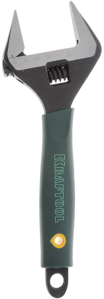 Ключ разводной Kraftool, ширина зева 50 мм98295719Разводной ключ Kraftool применяется для монтажа и демонтажа крепежных элементов, имеющих шестигранный профиль. Он изготовлен из высококачественной хромованадиевой стали с фосфатированным покрытием. Улучшенная конструкция губок позволяет работать в труднодоступных местах. Увеличенный захват зева позволяет работать с крепежом большого размера. Эргономичная противоскользящая рукоятка обеспечивает максимально удобный хват.Длина ключа: 27 см.Ширина зева: 50 мм.