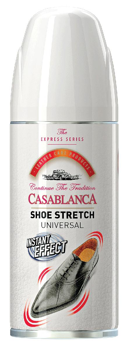 Спрей-растяжка для обуви Casablanca. 1311. 160млIRK-503Растяжка для обуви от Casablanca смягчает и растягивает, корректируя кожу обуви, снижает дискомфорт от тесной обуви. Подходит для всех типов кожи.