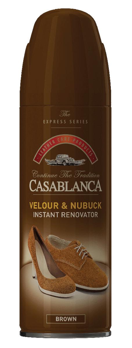 Спрей для обуви Casablanca, для замши, нубука, цвет: коричневый. 1309. 250мл3303 050Восстановитель для замши и нубука обладает приятным запахом, имитирующим новую кожу. Возвращает отличный внешний вид. Восстанавливает цвет. Питает. Очищает. Защищает от воздействия окружающей среды.