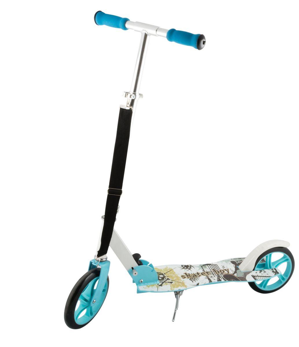"""Самокат 2-колесный SC-04 (200 мм), цвет: синийMHDR2G/AСамокат 2-х колесный SC-04 (200 мм) - это модель имеет индивидуальный дизайн, что отличает ее от остальных. Геометрия деки с """"талией"""" никого не оставит равнодушным. Удобная лямка для переноски самоката. Двухколесная модель с 200-мм колесами для взрослых и детей. Эргономичные резиновые грипсы. Телескопический руль. Удобная система складывания. Алюминиевая дека. Металлический тормоз. Полиуретановые 200-мм колеса. Подножка для устойчивости самоката. Подшипники ABEC 7 для быстрой и плавной езды.Технические характеристики:Дека: алюминийРучки: формованная пенаРуль: алюминийМатериал колеса (внутр): полипропиленМатериал колеса (внешний): полиуретанРегулировка руля: естьСистема складывания: естьРазмер колеса, мм: 200Подшипники: Abec-7Цвет: синийВес, гр: 3600Производство: КНРЕд. изм: шт.Кратность товара: 1Количество в коробке: 4"""