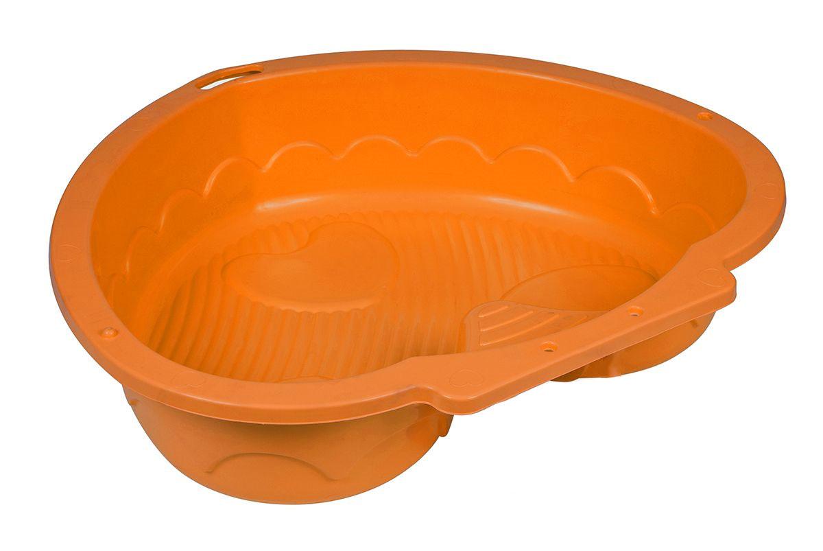 Marian Plast Песочница Сердечко цвет оранжевый