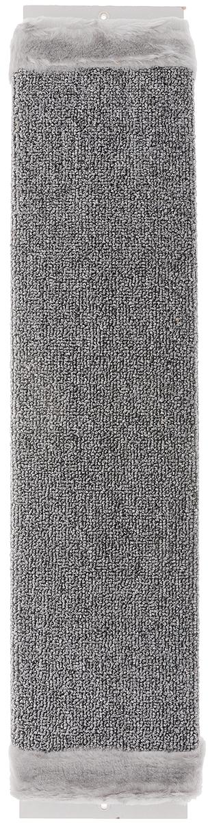 Когтеточка Зверье Мое, с запахом валерьяны, цвет: серый, длина 67 см. 1924435417Когтеточка Зверье Мое поможет сохранить мебель и ковры в доме от когтей вашего любимца, стремящегося удовлетворить свою естественную потребность точить когти. Когтеточка изготовлена из ДСП и обтянута ковролином. На когтеточке имеются 2 отверстия для крепления к стене. Товар продуман в мельчайших деталях и, несомненно, понравится вашей кошке. Всем кошкам необходимо стачивать когти. Когтеточка - один из самых необходимых аксессуаров для кошки. Для легкого приучения питомца когтеточка обработана привлекающей пропиткой с запахом валерьяны.