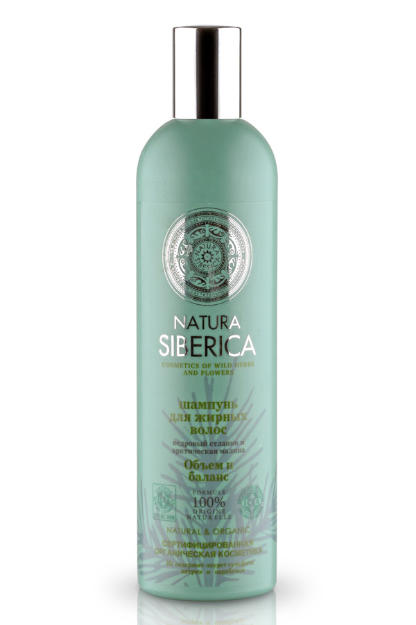 Шампунь Natura Siberica Объем и баланс, для жирных волос, 400 млFS-54115Шампунь Natura Siberica Объем и баланс предназначен для жирных волос. Не содержит лаурет сульфата натрия, парабенов и красителей. Кедровый стланик содержит аминокислоты, которые обладают способностью восстанавливать структуру поврежденного волоса, придавая прическе естественный объем и пышность.Сок арктической малины богаче в 5 раз витамином С, чем сок обычной малины. Он незаменим для ухода за жирными волосами, так как восстанавливает естественный баланс кожи головы. Характеристики:Объем: 400 мл. Производитель: Россия. Товар сертифицирован.