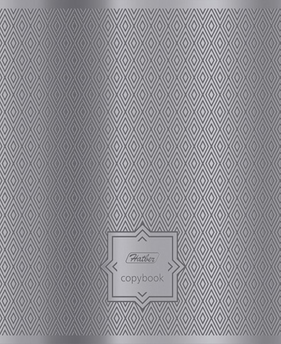 Hatber Тетрадь Серебряные узоры 48 листов в клетку72523WDТетрадь Hatber Серебряные узоры подойдет для школьников и студентов.Обложка, выполненная из металлизированного картона, позволит сохранить тетрадь ваккуратном состоянии на протяжении всего времени использования. Внутреннийблок тетради, соединенный двумя металлическими скрепками, состоит из 48листов белой бумаги. Стандартная линовка в клетку дополнена красными полями.