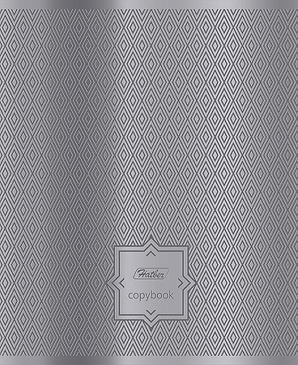 Hatber Тетрадь Серебряные узоры 96 листов в клетку72523WDТетрадь Hatber Серебряные узоры подойдет для школьников и студентов.Обложка, выполненная из металлизированного картона, позволит сохранить тетрадь ваккуратном состоянии на протяжении всего времени использования. Внутреннийблок тетради, соединенный двумя металлическими скрепками, состоит из 96листов белой бумаги. Стандартная линовка в клетку дополнена красными полями.