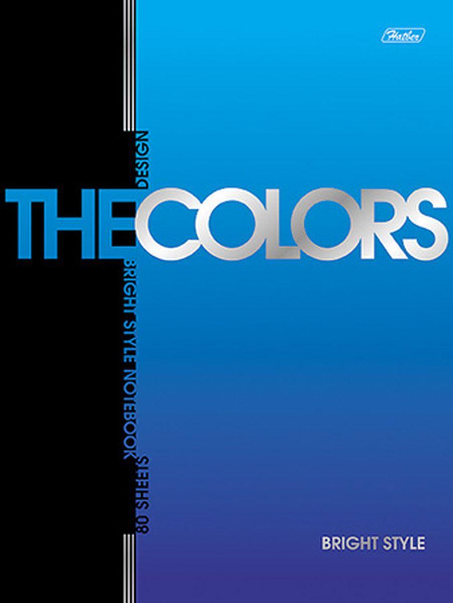 Hatber Блокнот The Colors Металлик 80 листов в клетку80Б5B1гр_02215Блокнот Hatber Металлик из серии The Colors отлично подойдет для занятий школьнику,студенту или для различных записей.Обложка, выполненная из плотногокартона, украшена изображением английских букв.Внутренний блок тетради, соединенный металлическими скрепками, состоит из 80 листов бумаги пяти цветов с разметкой в клетку.
