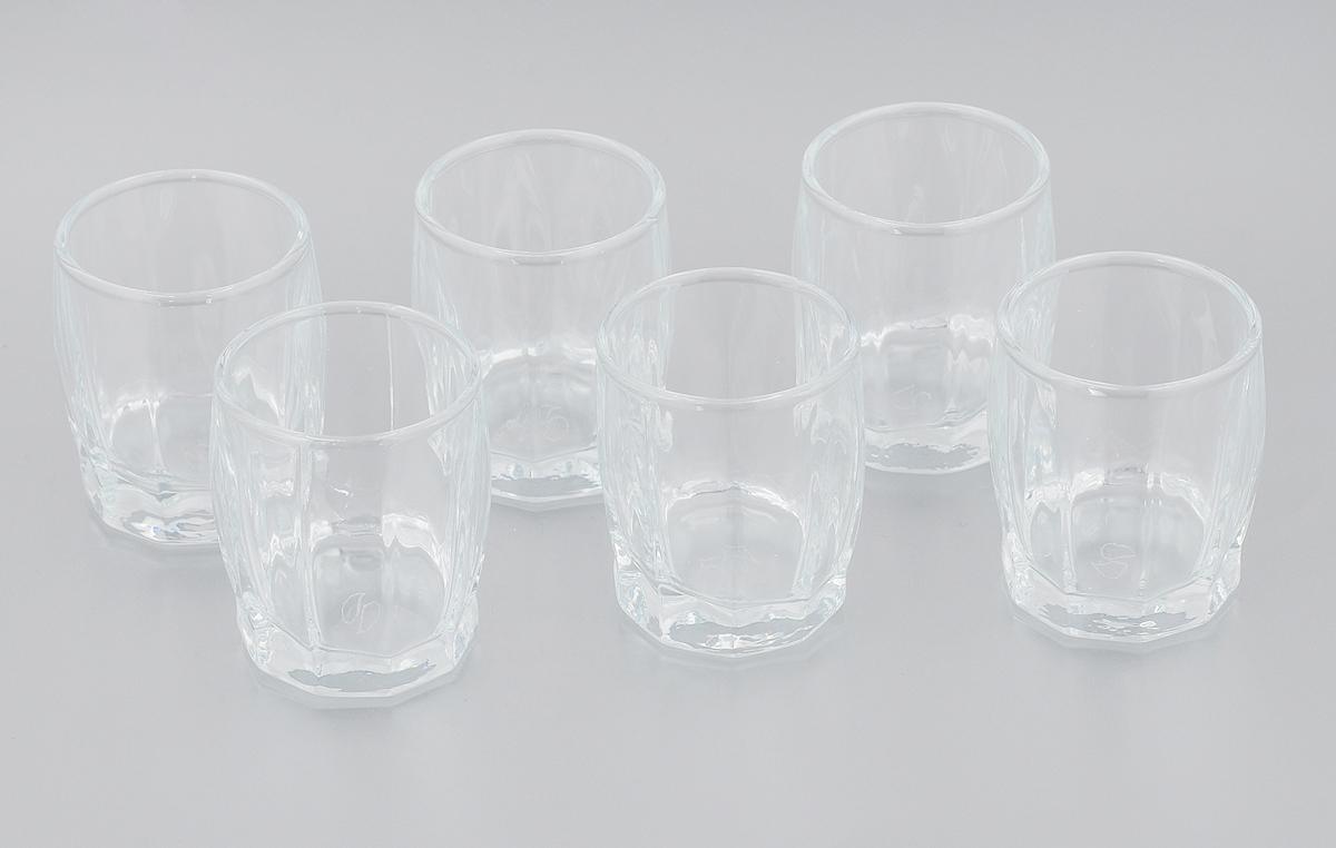 Набор стаканов Pasabahce Dance, 55 мл, 6 штVT-1520(SR)Набор Pasabahce Dance состоит из шести стаканов, выполненных из закаленного натрий-кальций-силикатного стекла. Низкие стаканы предназначены для подачи водки и других напитков. Они сочетают в себе элегантный дизайн и функциональность.Набор стаканов Pasabahce Dance идеально подойдет для сервировки стола и станет отличным подарком к любому празднику.Можно использовать в морозильной камере и микроволновой печи до 70°C. Можно мыть в посудомоечной машине. Диаметр стакана (по верхнему краю): 4,5 см. Высота стакана: 5,5 см.