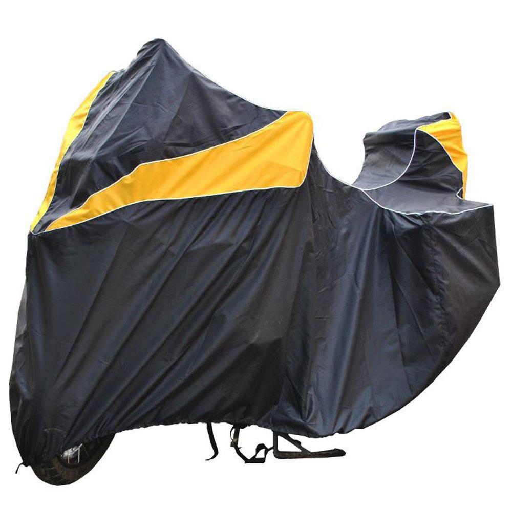 Чехол AG-brand для мотоцикла BMW R 1200 GS Adventure, цвет: черный, желтый4603726128094Подходит для эксплуатации как с кофрами, так и без кофров. Уличное и гаражное хранение мотоцикла. Светоотражающий кант по контуру. Изготовлен из высокопрочной водонепроницаемой тентовой ткани, не вытягивается, не пропускает уличные пыль и грязь. Все швы изделия выполнены с двойным подгибом - гарантия прочности и бережного отношения к вашему мотоциклу.