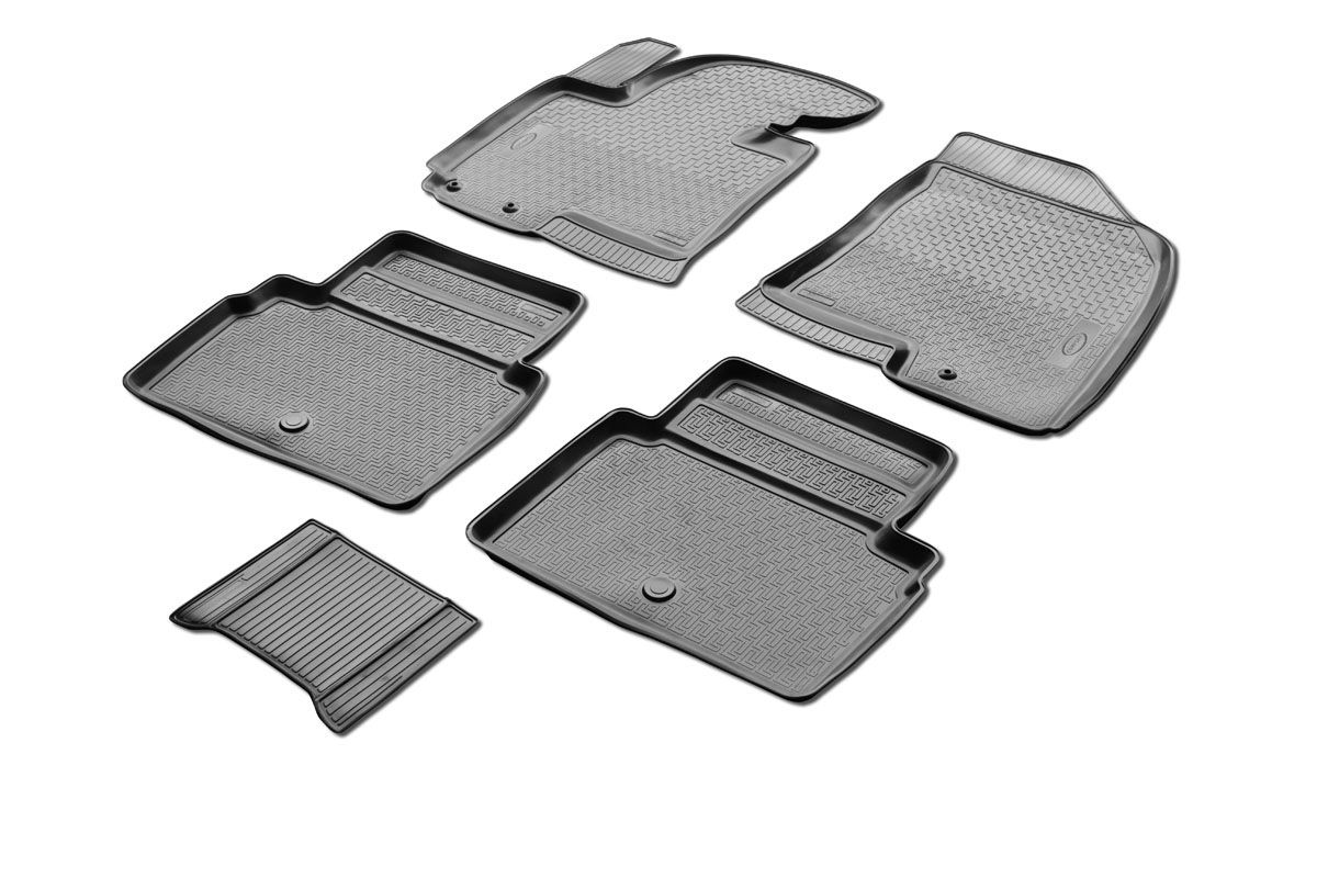 Коврики салона Rival для Hyundai ix35 2010-2016, c перемычкой, полиуретан21395599Прочные и долговечные коврики Rival в салон автомобиля, изготовлены из высококачественного и экологичного сырья, полностью повторяют геометрию салона вашего автомобиля.- Надежная система крепления, позволяющая закрепить коврик на штатные элементы фиксации, в результате чего отсутствует эффект скольжения по салону автомобиля.- Высокая стойкость поверхности к стиранию.- Специализированный рисунок и высокий борт, препятствующие распространению грязи и жидкости по поверхности коврика.- Перемычка задних ковриков в комплекте предотвращает загрязнение тоннеля карданного вала.- Произведены из первичных материалов, в результате чего отсутствует неприятный запах в салоне автомобиля.- Высокая эластичность, можно беспрепятственно эксплуатировать при температуре от -45 ?C до +45 ?C.Уважаемые клиенты!Обращаем ваше внимание,что коврики имеет формусоответствующую модели данного автомобиля. Фото служит для визуального восприятия товара.