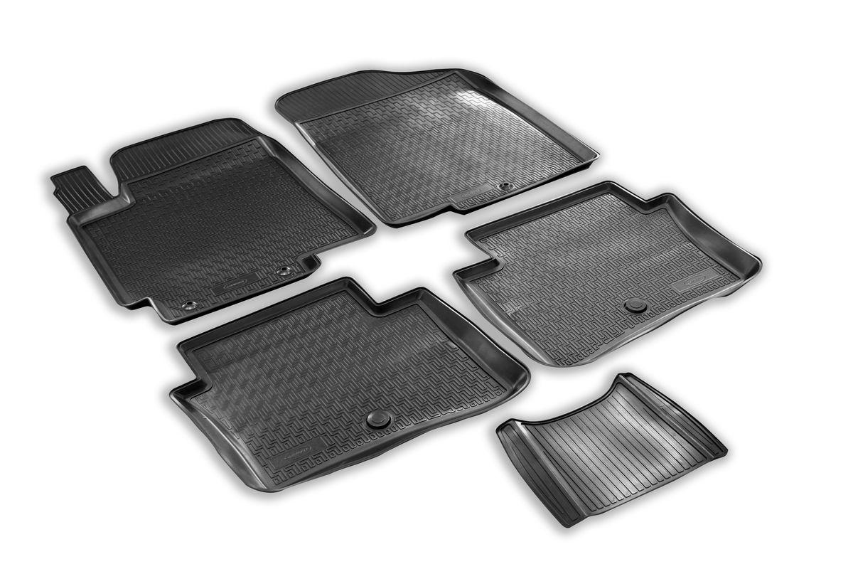 Коврики салона Rival для Hyundai Solaris (SD,HB) 2010-, c перемычкой, полиуретан98298130Прочные и долговечные коврики Rival в салон автомобиля, изготовлены из высококачественного и экологичного сырья, полностью повторяют геометрию салона вашего автомобиля.- Надежная система крепления, позволяющая закрепить коврик на штатные элементы фиксации, в результате чего отсутствует эффект скольжения по салону автомобиля.- Высокая стойкость поверхности к стиранию.- Специализированный рисунок и высокий борт, препятствующие распространению грязи и жидкости по поверхности коврика.- Перемычка задних ковриков в комплекте предотвращает загрязнение тоннеля карданного вала.- Произведены из первичных материалов, в результате чего отсутствует неприятный запах в салоне автомобиля.- Высокая эластичность, можно беспрепятственно эксплуатировать при температуре от -45 ?C до +45 ?C.Уважаемые клиенты!Обращаем ваше внимание,что коврики имеет формусоответствующую модели данного автомобиля. Фото служит для визуального восприятия товара.