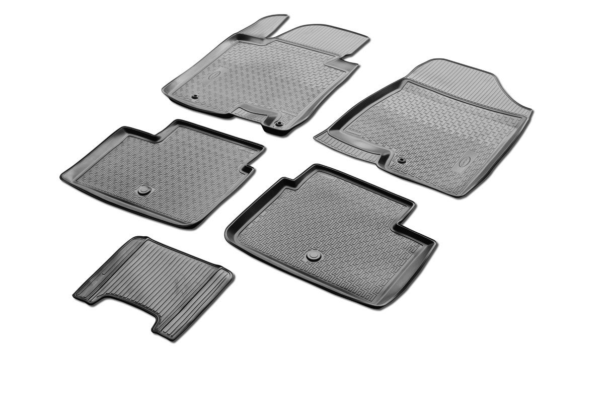 Коврики салона Rival для Kia Ceed (HB, 3D, 5D) 2012-, c перемычкой, полиуретан98298130Прочные и долговечные коврики Rival в салон автомобиля, изготовлены из высококачественного и экологичного сырья, полностью повторяют геометрию салона вашего автомобиля.- Надежная система крепления, позволяющая закрепить коврик на штатные элементы фиксации, в результате чего отсутствует эффект скольжения по салону автомобиля.- Высокая стойкость поверхности к стиранию.- Специализированный рисунок и высокий борт, препятствующие распространению грязи и жидкости по поверхности коврика.- Перемычка задних ковриков в комплекте предотвращает загрязнение тоннеля карданного вала.- Произведены из первичных материалов, в результате чего отсутствует неприятный запах в салоне автомобиля.- Высокая эластичность, можно беспрепятственно эксплуатировать при температуре от -45 ?C до +45 ?C.Уважаемые клиенты!Обращаем ваше внимание,что коврики имеет формусоответствующую модели данного автомобиля. Фото служит для визуального восприятия товара.