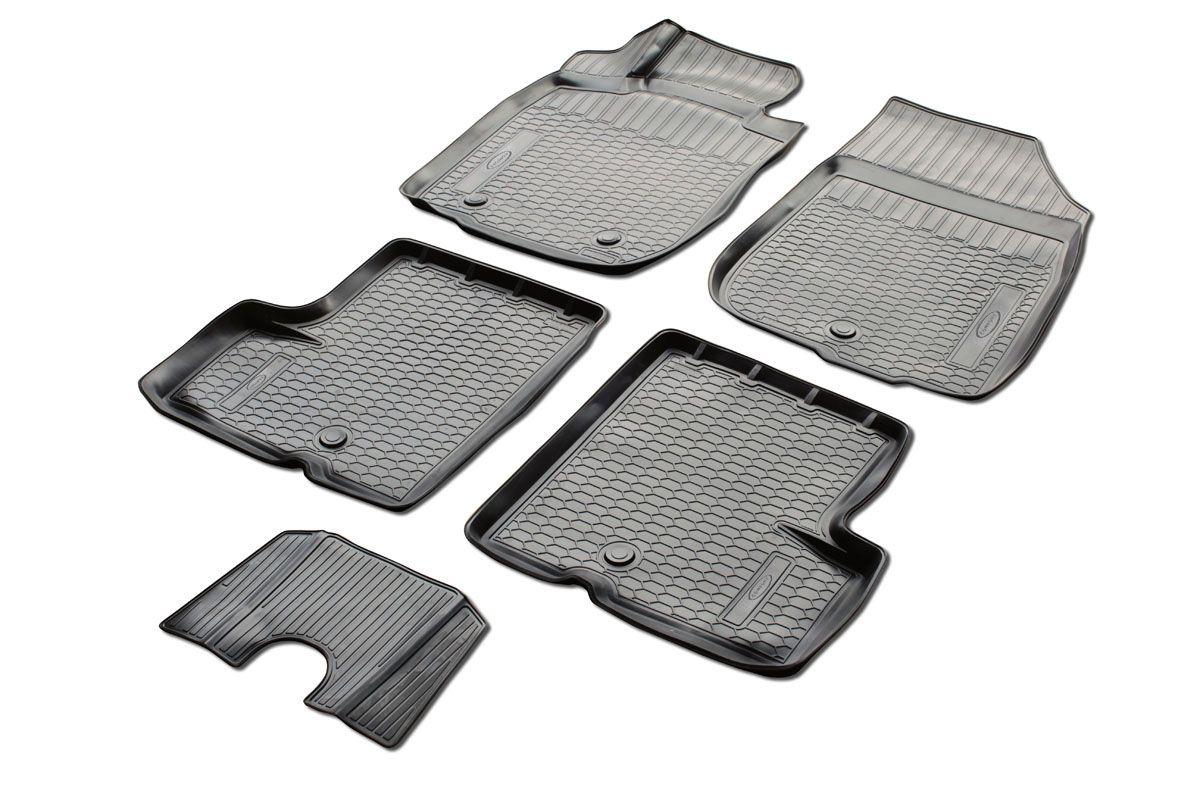 Коврики салона Rival для Nissan Terrano (2WD) 2014-2016, c перемычкой, полиуретанАксион Т-33Прочные и долговечные коврики Rival в салон автомобиля, изготовлены из высококачественного и экологичного сырья, полностью повторяют геометрию салона вашего автомобиля.- Надежная система крепления, позволяющая закрепить коврик на штатные элементы фиксации, в результате чего отсутствует эффект скольжения по салону автомобиля.- Высокая стойкость поверхности к стиранию.- Специализированный рисунок и высокий борт, препятствующие распространению грязи и жидкости по поверхности коврика.- Перемычка задних ковриков в комплекте предотвращает загрязнение тоннеля карданного вала.- Произведены из первичных материалов, в результате чего отсутствует неприятный запах в салоне автомобиля.- Высокая эластичность, можно беспрепятственно эксплуатировать при температуре от -45 ?C до +45 ?C.Уважаемые клиенты!Обращаем ваше внимание,что коврики имеет формусоответствующую модели данного автомобиля. Фото служит для визуального восприятия товара.