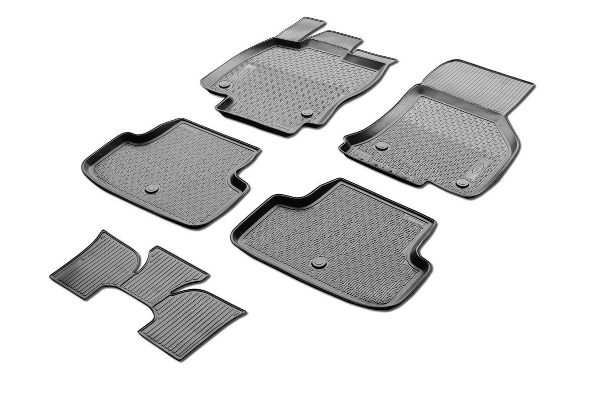 Коврики салона Rival для Volkswagen Golf 7 (HB) 2012-, c перемычкой, полиуретан98298130Прочные и долговечные коврики Rival в салон автомобиля, изготовлены из высококачественного и экологичного сырья, полностью повторяют геометрию салона вашего автомобиля.- Надежная система крепления, позволяющая закрепить коврик на штатные элементы фиксации, в результате чего отсутствует эффект скольжения по салону автомобиля.- Высокая стойкость поверхности к стиранию.- Специализированный рисунок и высокий борт, препятствующие распространению грязи и жидкости по поверхности коврика.- Перемычка задних ковриков в комплекте предотвращает загрязнение тоннеля карданного вала.- Произведены из первичных материалов, в результате чего отсутствует неприятный запах в салоне автомобиля.- Высокая эластичность, можно беспрепятственно эксплуатировать при температуре от -45 ?C до +45 ?C.Уважаемые клиенты!Обращаем ваше внимание,что коврики имеет формусоответствующую модели данного автомобиля. Фото служит для визуального восприятия товара.