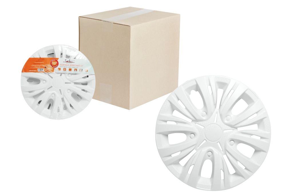 Колпаки колесные Airline Лион, цвет: белый, 14, 2 шт. AWCC-14-03AWCC-15-09Колпаки колесные Airline Лион изготовлены из ударопрочного полистирола, имеют модную текстуру, имитирующую карбон, покрашены в популярные цвета, а также стойкие к повышенным и пониженным температурам. Колпаки снабжены надежными универсальными креплениями, позволяющими обеспечивать равномерное распределение давления на все защелки. Колпаки Airline защитят тормозную систему от грязи, соли и реагентов, скроют изъяны штампованных дисков, тем самым украсив ваш автомобиль.