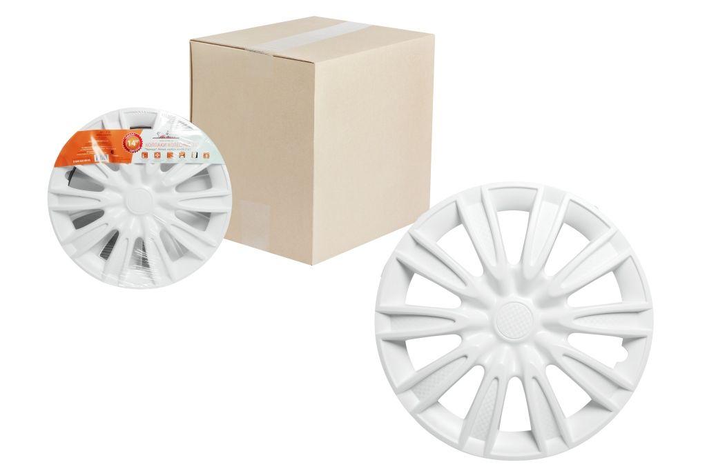 Колпаки колесные Airline Торнадо, цвет: белый, 14, 2 шт. AWCC-14-081004900000360Колпаки колесные Airline Торнадо изготовлены из ударопрочного полистирола, имеют модную текстуру, имитирующую карбон, покрашены в популярные цвета, а также стойкие к повышенным и пониженным температурам. Колпаки снабжены надежными универсальными креплениями, позволяющими обеспечивать равномерное распределение давления на все защелки. Колпаки Airline защитят тормозную систему от грязи, соли и реагентов, скроют изъяны штампованных дисков, тем самым украсив ваш автомобиль.