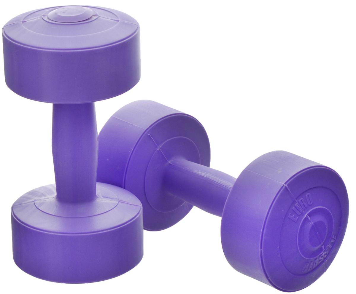 Гантели виниловые Euro-Classic, цвет: сиреневый, 2 кг, 2 штSF 0085Гантели Euro-Classic идеально подходят как для тренировок дома, так и в офисе. Гантели помогают укрепить мышцы рук, грудной клетки, верхней части спины и плеч. Внешнее покрытие изделий выполнено из прочного ПВХ, наполнитель - композитная смесь цемента и песка.