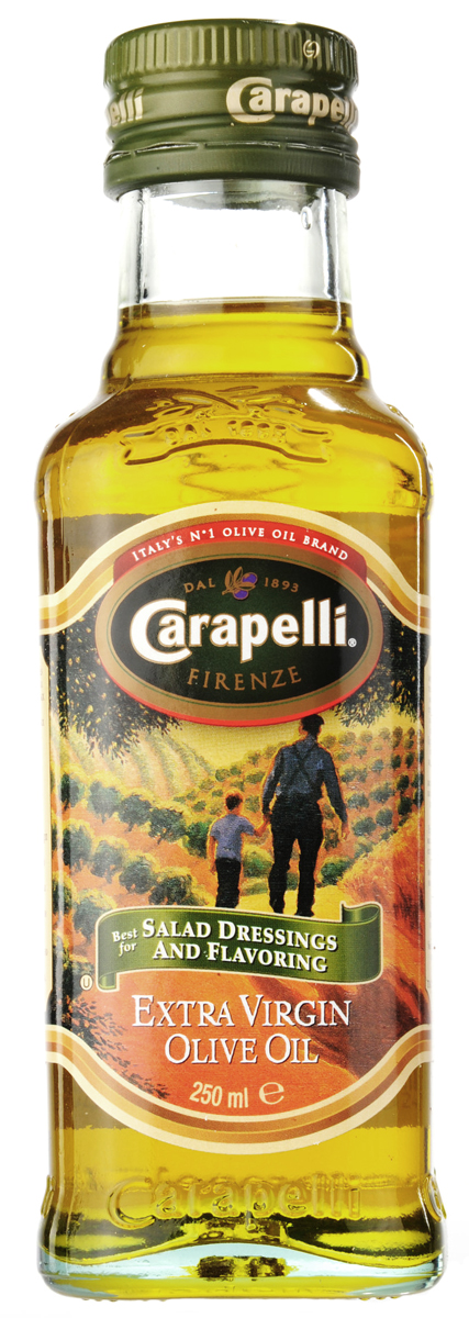 Carapelli Extra Virgin оливковое масло, 250 мл0120710Масло первого холодного прессования из отборных оливок Coratina, Leccino, Moraiolo Frantoio, выращенных в Средиземноморье. Вкус мягкий, обволакивающий, с изысканным ароматом. Продукт отличается золотисто-зеленым цветом и гармоничным ароматом. Идеально подходит для заправки салатов, соусов и маринадов.