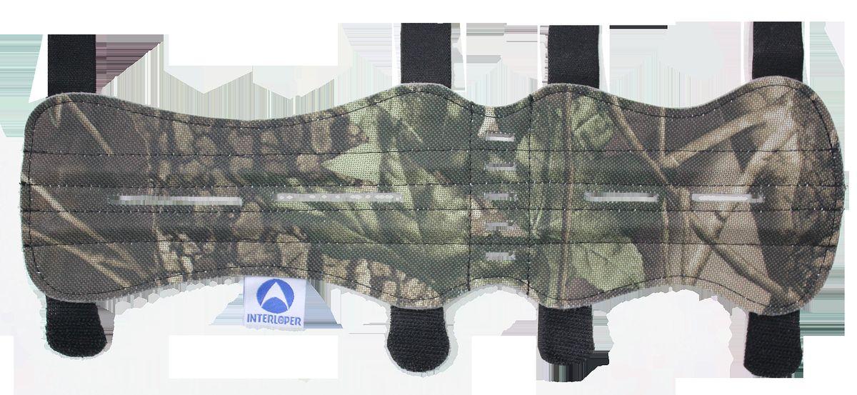 Крага охотничья Interloper, цвет: камуфляж, 33 см. AMG9118527Крага- защитное приспособление, котороеодевается на предплечье стрелка, защищая руку от ударов тетивы.