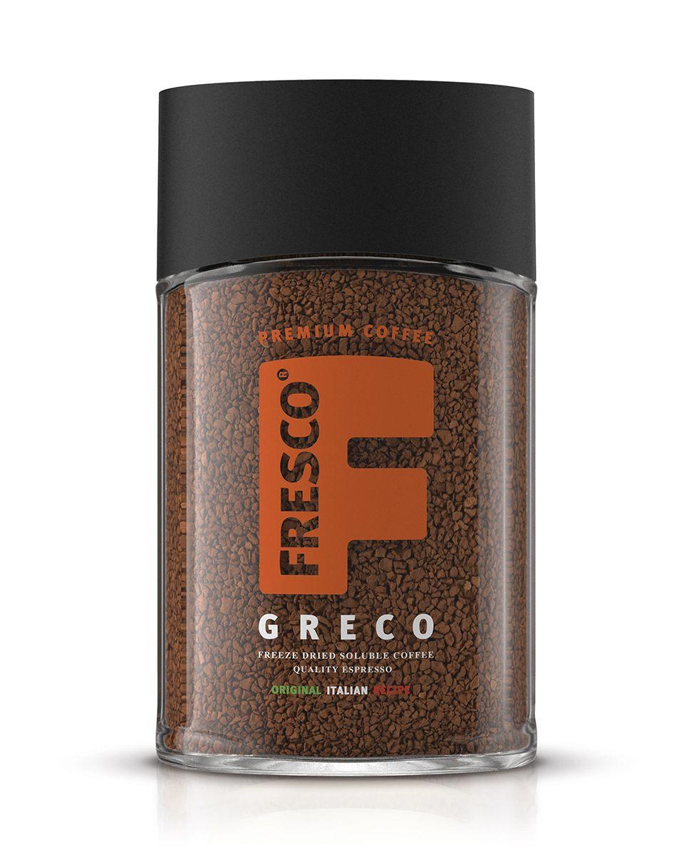 Fresco Greco кофе растворимый, 100 г0120710Сублимированный кофе Fresco Greco имеет очень яркий аромат и насыщенный вкус 100% Арабики. Идеальный эспрессо для разговоров в кругу друзей.
