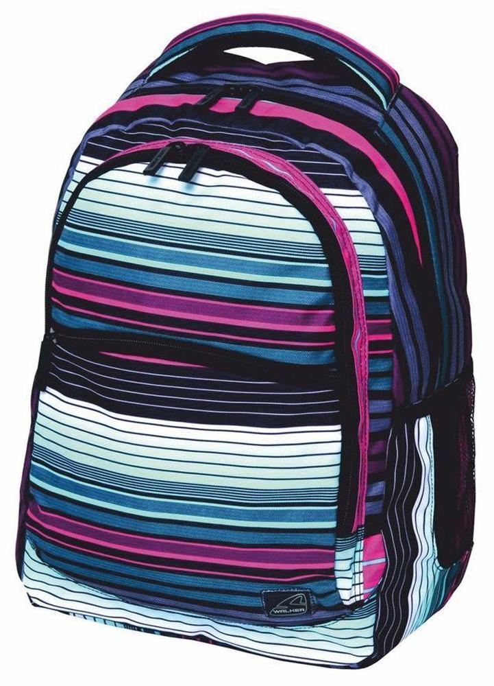 Walker Школьный ранец Base Classic Scale Stripes72523WDУплотненная спинка и лямки помогают лучше распределить нагрузку и сохранить форму рюкзака независимо от его наполнения.Цвета изделия могут располагаться по разному.
