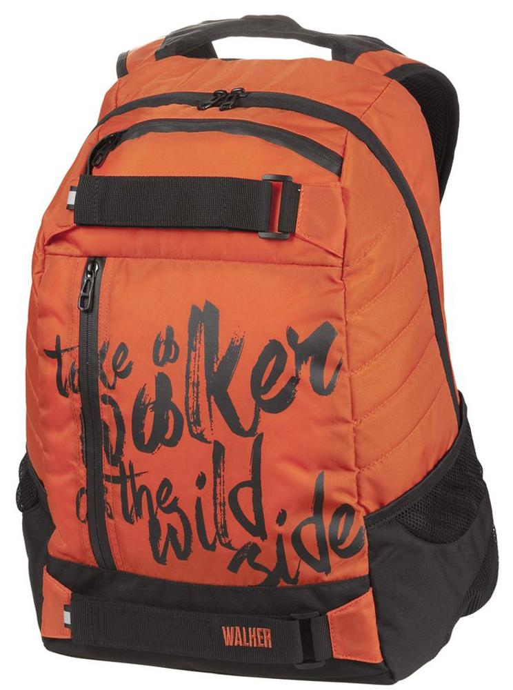 Walker Рюкзак школьный Fun Take a Walker 4404-5/441Школьный рюкзак Walker Fun Take a Walker выполнен из прочного износостойкого материала высокого качества. Он имеет одно основное отделение, закрывающееся на молнию с двумя бегунками. Внутри главного отделения находится дополнительный карман. Рюкзак оснащен двумя боковыми карманами для бутылок с напитками. На лицевой стороне расположены два кармана на молнии. Мягкие анатомические лямки и ремешки на липучках позволяют легко и быстро отрегулировать рюкзак в соответствии с ростом. Также имеется уплотненная вставка в спинке, которая облегчает нагрузку на спину. Этот рюкзак разработан специально для людей стильных и модных, любящих быть в центре внимания.