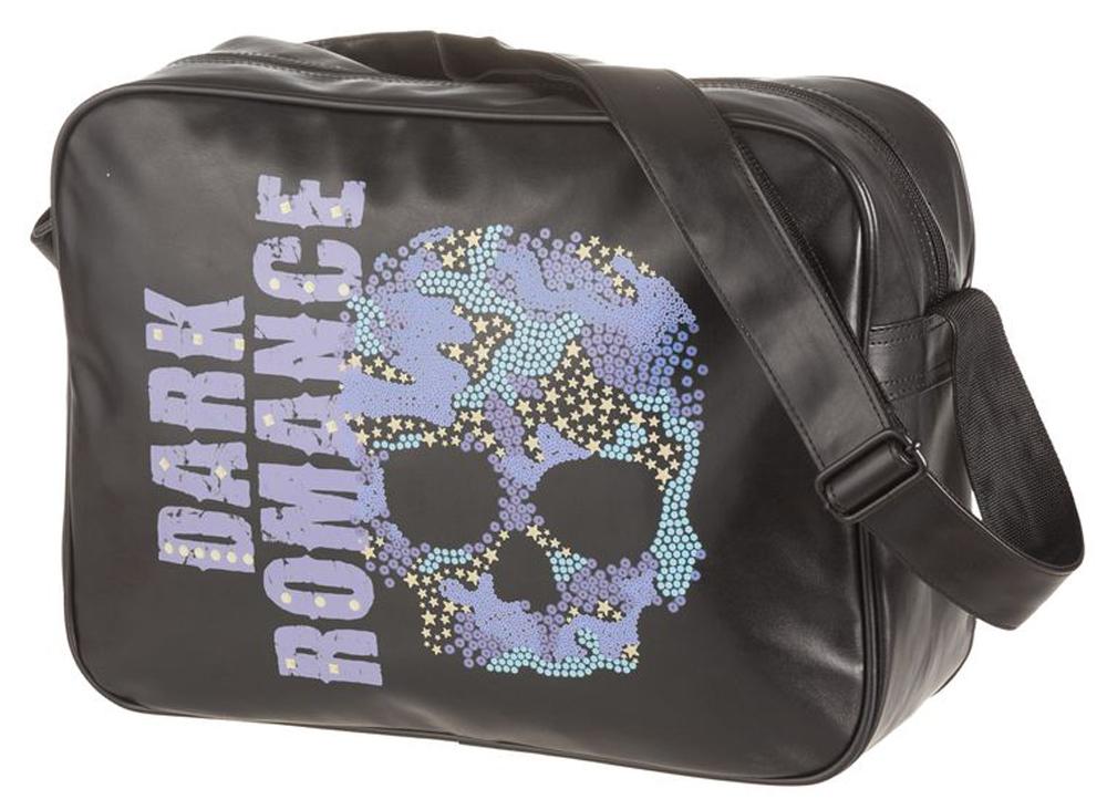 Walker Сумка школьная Fun Dark Romance42089/80Школьная сумка Centrum Fun Dark Romance станет не только практичным, но и стильным школьным аксессуаром.Сумка выполнена из прочного материала и закрывается на застежку-молнию. Имеется большое внутреннее отделение с 2 карманами, в котором без труда поместится все необходимое для школьных занятий. Внешний карман с обратной стороны закрывается также на молнию.