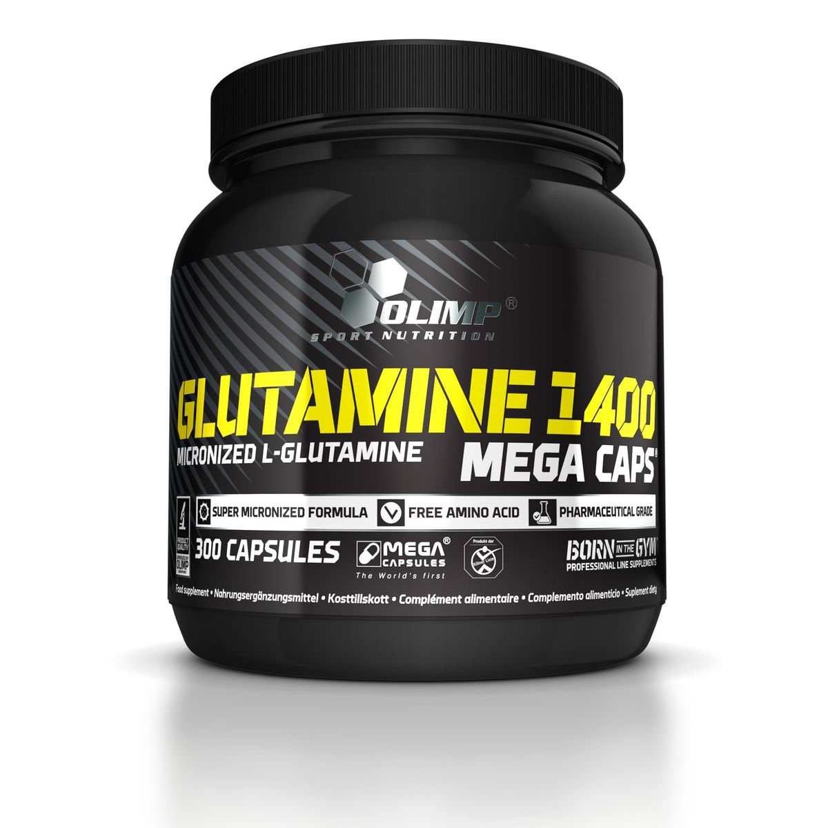 Глютамин Olimp Sport Nutrition  1400 Mega Caps , 300 капсул - Аминокислоты