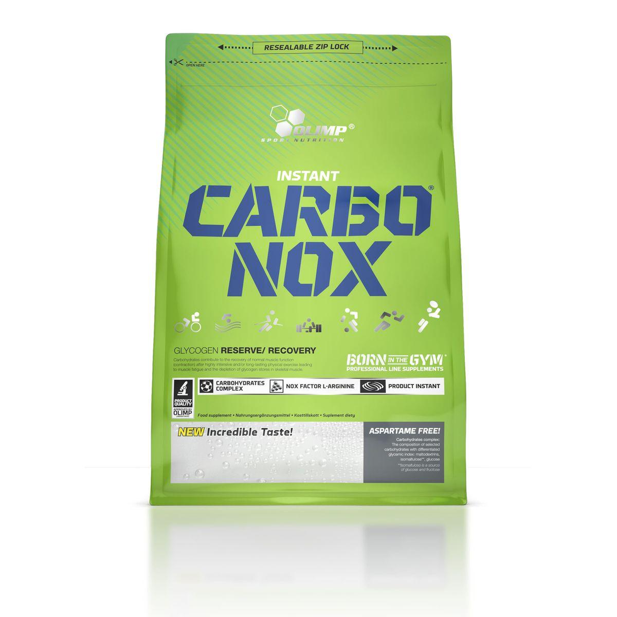 Энергетический напиток Olimp Sport Nutrition Carbo Nox, лимон, 1 кгO27611Olimp Sport Nutrition Carbo Nox - это напиток, способный быстро поставить энергию спортсмену! Он содержит углеводы различной длины цепи, что способствует равномерному усвоению и обеспечивает организм топливом на длительный промежуток времени. Это не просто энергетик. Он несет в себе именно те минералы, которые атлет теряет с потом во время тренировок. Olimp Sport Nutrition Carbo Nox также содержит витамины, особенно важные при интенсивных нагрузках.Рекомендации по применению: пейте 2-4 порции до и во время тренировки для обеспечения организма энергией и влагой, после тренировки для восстановления энергетических запасов.Рекомендации по приготовлению: 50 г - 90 единиц измерения мерной ложки или 5 без горки столовых ложек на 500 мл воды. Ингредиенты: мальтодекстрины, глюкоза, изомалтулоза, L-аргинин гидрохлорид, кислота лимонная, яблочная кислота, минеральные компоненты, ароматизаторы, витамины, подсластители, сукралоза, краситель.Товар сертифицирован.