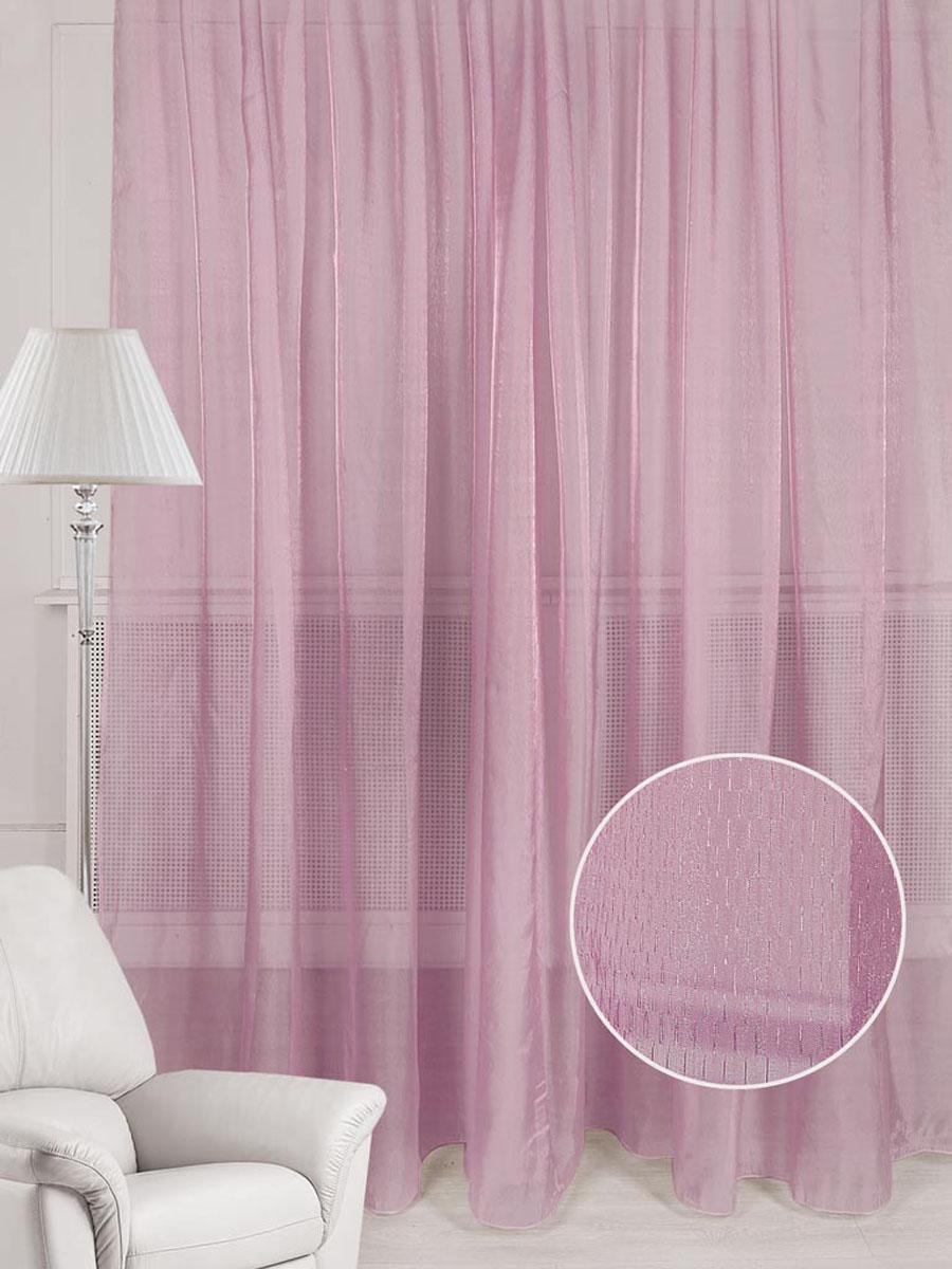 Тюль ТД Текстиль Кристалл, на ленте, цвет: розовый, высота 250 см. 78558VCA-00Тюль ТД Текстиль Кристалл изготовлен из органзы с легким блеском и великолепно украсит любоеокно. Воздушная ткань и приятная, приглушенная гамма привлекут к себе внимание иорганично впишутся в интерьер помещения. Полиэстер - вид ткани, состоящий из полиэфирных волокон. Ткани из полиэстера -легкие, прочные и износостойкие. Такие изделия не требуют специального ухода, непылятся и почти не мнутся.Крепление к карнизу осуществляется с использованием ленты-тесьмы. Такой тюль идеально оформит интерьер любого помещения.Рекомендациипо уходу:- ручная стирка,- можно гладить,- нельзя отбеливать.