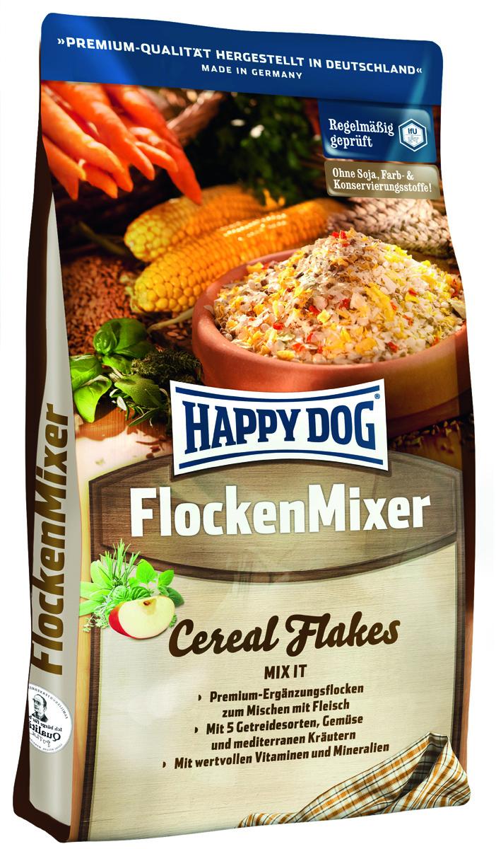 Корм сухой Happy Dog Flocken Mixer, дополнительное питание для собак в виде хлопьев, 3 кг570Happy Dog Flocken Mixer - полноценное и дополнительное питание для собак в виде хлопьев.Мясо - важный продукт, но оно не удовлетворяет все потребности, и для полноценного питания его недостаточно! Сбалансированный рацион для собак должен включать в себя также разнообразные, легко усваиваемые растительные компоненты с активными и балластными веществами. Хлопья Happy Dog Flocken Mixer идеально подходят для смешивания с мясом. Эта смесь содержит легко перевариваемые тонкие хлопья, хлопья из цельного зерна, овощи и травы. Идеальное дополнение к каждому мясному кормлению.Состав: хлопья из цельнозерновой кукурузы, тонкие хлопья из кукурузной муки, хлопья из цельнозерновой пшеницы, хлопья из цельнозернового овса, гороховые хлопья (6%), фосфат дикальция, сушеная морковь (2%), карбонат кальция, просо воздушное, рисовая мука, хлорид натрия, ягоды бузины, виноградные выжимки, чабер садовый, майоран, плоды аниса, базилик, фенхель, цветки бузины, цветки лаванды, розмарин, шалфей, тимьян (общий объем трав: 0,15 %).Аналитический состав: сырой протеин 10,0%, сырой жир 2,0%, сырая клетчатка 3,0%, сырая зола 6,0%, кальций 1,25%, фосфор 0,55%, натрий 0,25%, калий.Витамины/кг: витамин А 10250 М.E., витамин D3 1000 М.E., витамин Е 60 мг, витамин В1 4 мг, витамин В2 3 мг, витамин В6 350 мкг, биотин 10 мг, кальций D-пантотенат 45 мг, ниацин 60 мкг, витамин В12 125 мг, холинхлорид. Микроэлементы/кг: железо 12 мг, медь 120 мг, цинк 6 мг 2,0 мг, марганец 0,2 мг, йод, селен.Товар сертифицирован.