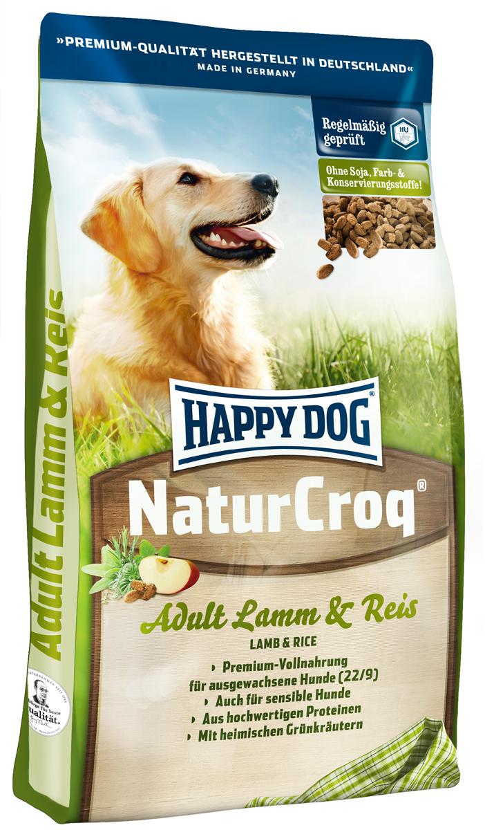 Корм сухой Happy Dog Natur Croq для взрослых собак, с ягненком и рисом, 15 кг2387Happy Dog Natur Croq - легко усваиваемый полнорационный корм класса премиум. Корм оптимально подходит для взрослых собак всех пород с нормальной потребностью в энергии. Хрустящие гранулы содержат качественные ингредиенты: ягненок, рис, полезную цельнозерновую смесь, ценные травы, а также все витамины и минеральные вещества, необходимые для сбалансированного питания вашей собаки. Сбалансированный полнорационный корм, содержащий все нужные питательные вещества. Не содержит красителей, консервантов и сои. Легко усваивается благодаря высокому качеству.Состав: птица, цельные зерна пшеницы, цельные зерна кукурузы, пшеничная мука, кукурузная мука, цельные зерна ячменя, ягненок (7%), рисовая мука (7%), рыба, птичий жир, говяжий жир, гидролизат печени, свекольная пульпа, масло из семян подсолнечника (0,8%), яблочная пульпа (0,8%), дрожжи сухие, ростки солода, рапсовое масло (0,2%), хлорид натрия, овес сушеный, подсолнечник сушеный, листья салата сушеные, петрушка сушеная (общий объем трав: 0,3%).Аналитический состав: сырой протеин 22,0%, сырой жир 9,0%, сырая клетчатка 3,0%, сырая зола 6,5%, кальций 1,4%, фосфор 0,95%, натрий 0,25%, калий 0,45%.Витамины/кг: витамин А 8000 М.E., витамин D3 800 М.E., витамин Е 60 мг, витамин В1 4 мг, витамин В2 6 мг, витамин В6 3 мг, биотин 350 мкг, кальций D-пантотенат 10 мг, ниацин 45 мг, витамин В12 60 мкг, холинхлорид. Микроэлементы/кг: железо 80 мг, медь 8 мг, цинк 80 мг, марганец 5 мг, йод 2 мг, селен . 0,15 мгТовар сертифицирован.