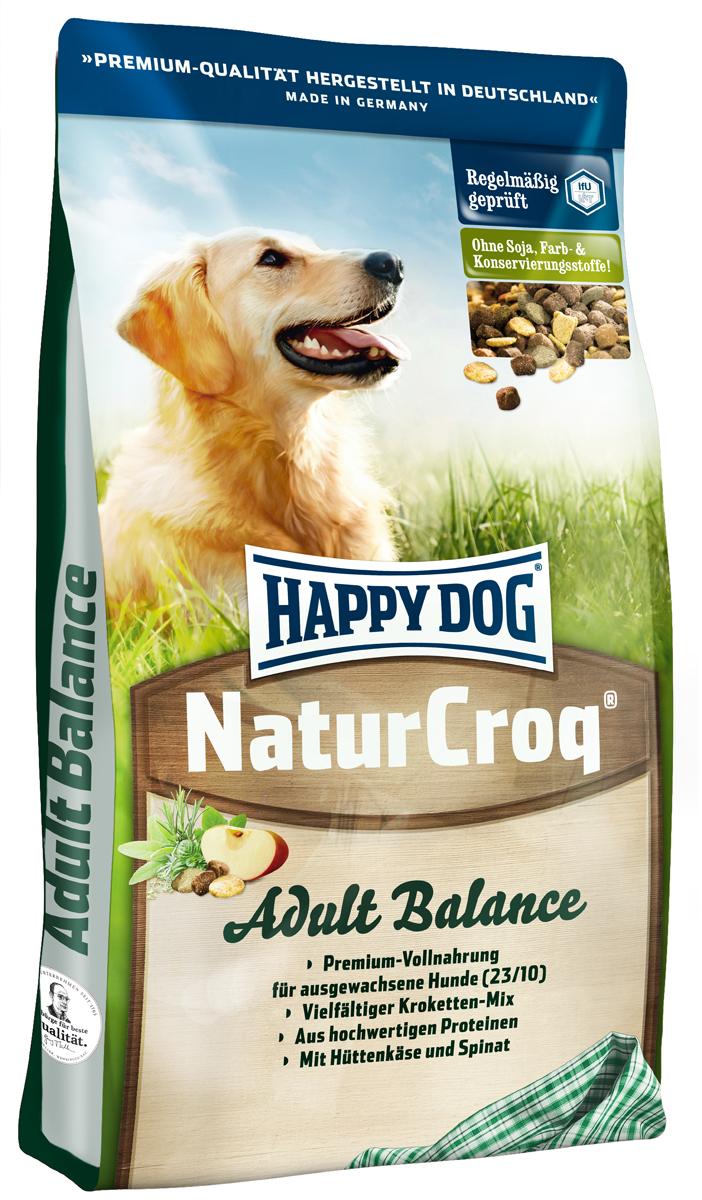 Корм сухой Happy Dog Natur Croq для взрослых собак, 15 кг2640Happy Dog Natur Croq - легко усваиваемый полнорационный корм класса премиум. Корм идеально подходит для всех взрослых собак с нормальной потребностью в калориях. Уникальная смесь крокет с неповторимым вкусом! Полезная рецептура с домашним сыром, шпинатом и дрожжами благотворно влияет на пищеварение и работу кишечника. Благодаря этому корм идеально подходит и для всех чувствительных собак. Состав: птица, цельные зерна пшеницы, пшеничная мука, цельные зерна кукурузы, кукурузная мука, рисовая мука, овсяная мука, цельные зерна ячменя, мясо, рыба, птичий жир, говяжий жир, свекольная пульпа, гидролизат печени, яблочная пульпа (0,8%), хлорид натрия, домашний творожный сыр сухой (0,3%), морковь сушеная (0,1%), дрожжи (экстракт) (0,1%), шпинат сушеный (0,08%), люцерна сушеная (0,08%).Аналитический состав: сырой протеин 23,0%, сырой жир 10,0%, сырая клетчатка 3,0%, сырая зола 6,0%, кальций 1,4%, фосфор 0,9%, натрий 0,35%, калий 0.45%.Витамины/кг: витамин А 10250 М.E., витамин D3 1000 М.E., витамин Е 60 мг, витамин В1 4 мг, витамин В2 6 мг, витамин В6 3 мг, биотин 350 мкг, кальция D-пантотенат 10 мг, ниацин 45 мг, витамин В12. Микроэлементы/кг: железо 60 мкг, медь 80 мг, цинк 8 мг, марганец 80 мг, йод 12 мг, селен 1,5 мг.Товар сертифицирован.