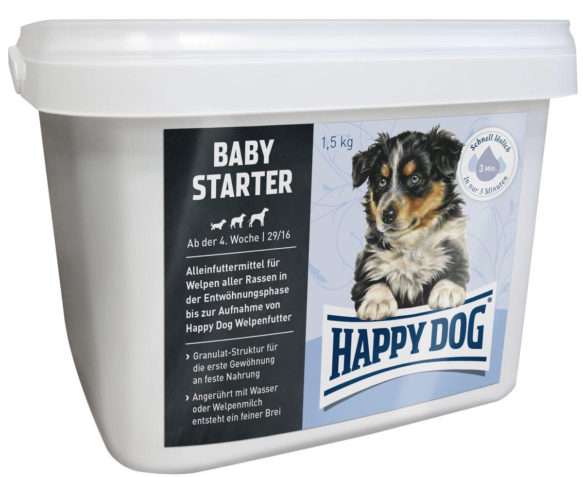 Happy Dog Сухой корм для щенков Первый прикорм Baby Starter, 1,5 кг0120710Оптимально сбалансированное питание для щенка - лучшая основа для здорового развития! Рецептура корма Baby Starter с содержанием протеина 29% одобрена ветеринарными врачами. Happy Dog Baby Starter содержит высококачественное мясо птицы и лосося, а также ценного новозеландского моллюска. Этот корм оптимально подходит для беспроблемного и щадящего кормления щенков всех пород, начиная с 4-ой недели жизни. Приблизительно с 5-6 недели щенка постепенно переводят на подходящий корм Happy Dog Baby. Разнообразный и сбалансированный полнорационный корм для щенков с уникальной формулой Happy Dog Natural Life Concept надежно предотвращает явления недостаточности в организме.
