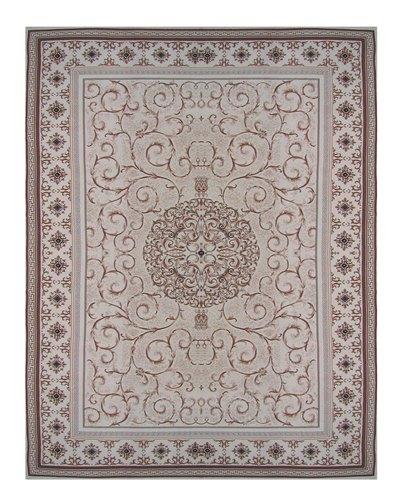 Ковер Oriental Weavers Кастл, цвет: серо-бежевый, 120 х 180 см. 520 YES-412Традиционные дизайны из Персии и Ирана на ковре высокой плотности подчеркнут изысканность и строгость любого классического интерьера.
