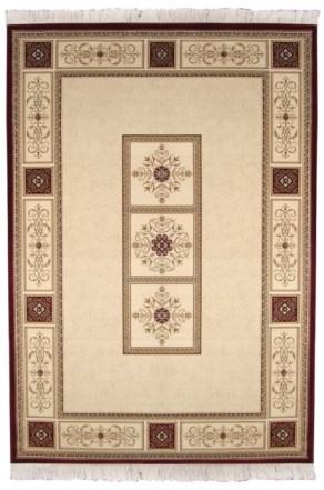 Ковер Oriental Weavers Кастл, цвет: коричнево-красный, 120 х 180 см. 520 Z41619Традиционные дизайны из Персии и Ирана на ковре высокой плотности подчеркнут изысканность и строгость любого классического интерьера.