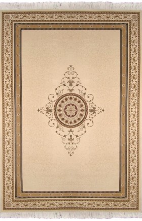 Ковер Oriental Weavers Кастл, цвет: светло-коричневый, 120 х 180 см. 92 W18418/бежТрадиционные дизайны из Персии и Ирана на ковре высокой плотности подчеркнут изысканность и строгость любого классического интерьера.