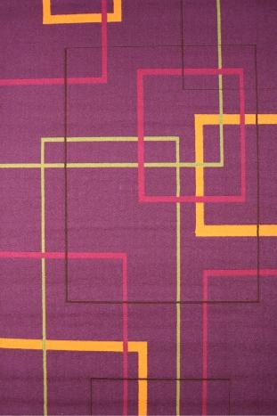 Ковер Oriental Weavers Дaзл, цвет: фиолетовый, 100 х 150 см. 662 MES-412Яркая циновка с мягким и упругим ворсом - неповторимый элемент для гостиных и детских комнат. Оригинальный ковер от известной египетской фабрики Oriental Weavers подойдет для современных и классических интерьеров.