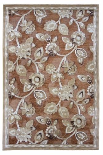 Ковер Oriental Weavers Арена, цвет: красный, 120 х 180 см. 2SES-412Сочетание крупного рисунка на шинилле - это последние тенденции ковровой моды. Ковер от известной египетской фабрики Oriental Weavers подойдет для современных и классических интерьеров.