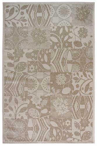 Коврик прикроватный Oriental Weavers Дрим, цвет: серо-бежевый, 80 х 165 см. 23 WES-412Оригинальный шерстяной гобелен в стиле пэтч-ворк удовлетворит самый изысканный вкус. Ковер от известной Египетской фабрики Oriental Weavers прекрасно подойдет для современных и классических интерьеров.