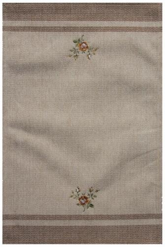 Коврик прикроватный Oriental Weavers Милано, цвет: светло-бежевый, 55 см х 85 см. 11 WES-412Приятные на ощупь и стильные коврики из шинилла и вискозы на основе из латекса подходят как для спальни, так и для гостиной