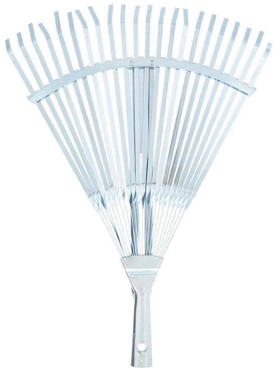 Грабли веерные Raco, регулируемые, 22 зуба, ширина 30-45 см391602Регулируемые веерные грабли Raco изготовлены из высококачественной стали и предназначены для работы в саду или на приусадебном участке. Такими граблями удобно сгребать листья, мусор и сорняки. Благодаря большому количеству зубцов, расположенных по принципу веера, уборка территории будет сделана в короткие сроки. Черенок в комплект не входит. Ширина граблей: 30-45 см. Количество зубьев: 22.