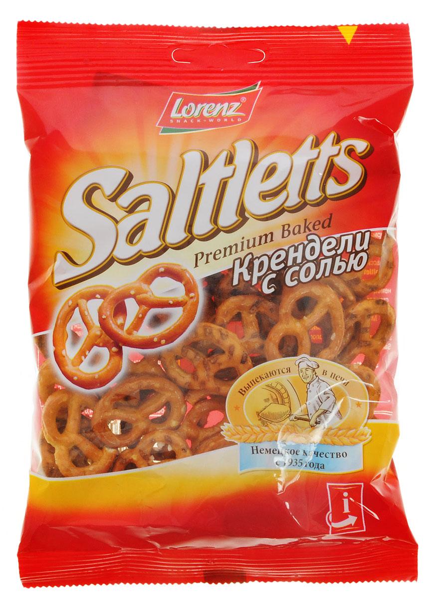 Lorenz Saltletts крендели с солью, 50 г0120710Saltletts - это настоящая легенда!Классический вкус и неповторимый хруст Saltletts не спутаешь ни с чем другим! Мини-крендели - классическая немецкая закуска. Они выпекаются в печи из лучших ингредиентов и слегка приправлены морской солью.Морская соль, богатая полезными микроэлементами, придает золотисто-коричневым кренделькам Saltletts особую пикантность и изысканность.